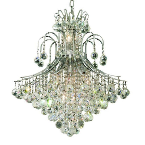 Toureg 25 Crystal Chandelier With 15 Lights - Chrome Finish And Swarovski Elements Crystal Chandelier