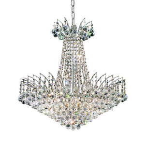 Victoria 24 Crystal Chandelier With 11 Lights - Chrome Finish And Swarovski Elements Crystal Chandelier