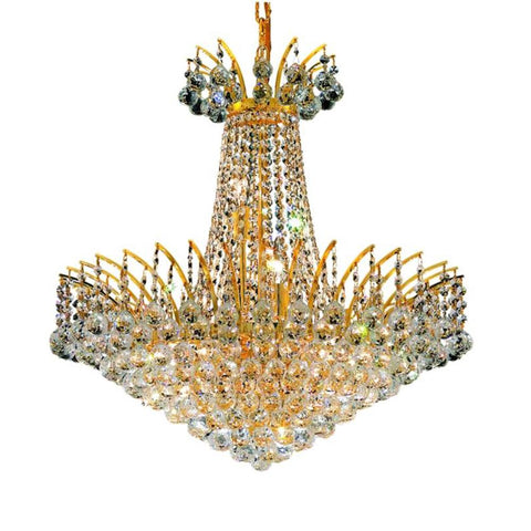 Victoria 24 Crystal Chandelier With 11 Lights - Gold Finish And Swarovski Elements Crystal Chandelier