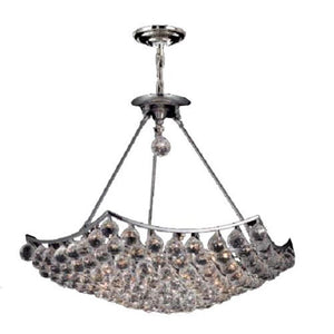 Corona 26 Crystal Chandelier With 12 Lights - Chrome Finish And Swarovski Elements Crystal Chandelier