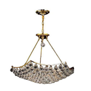 Corona 26 Crystal Chandelier With 12 Lights - Gold Finish And Swarovski Elements Crystal Chandelier