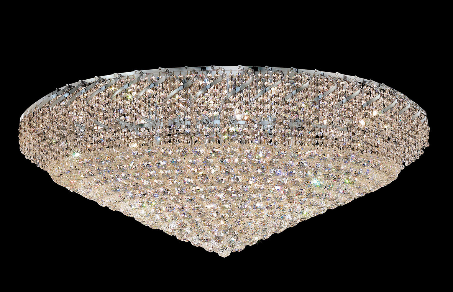 Belenus Flush Mount with 36 Lights - Chrome Finish