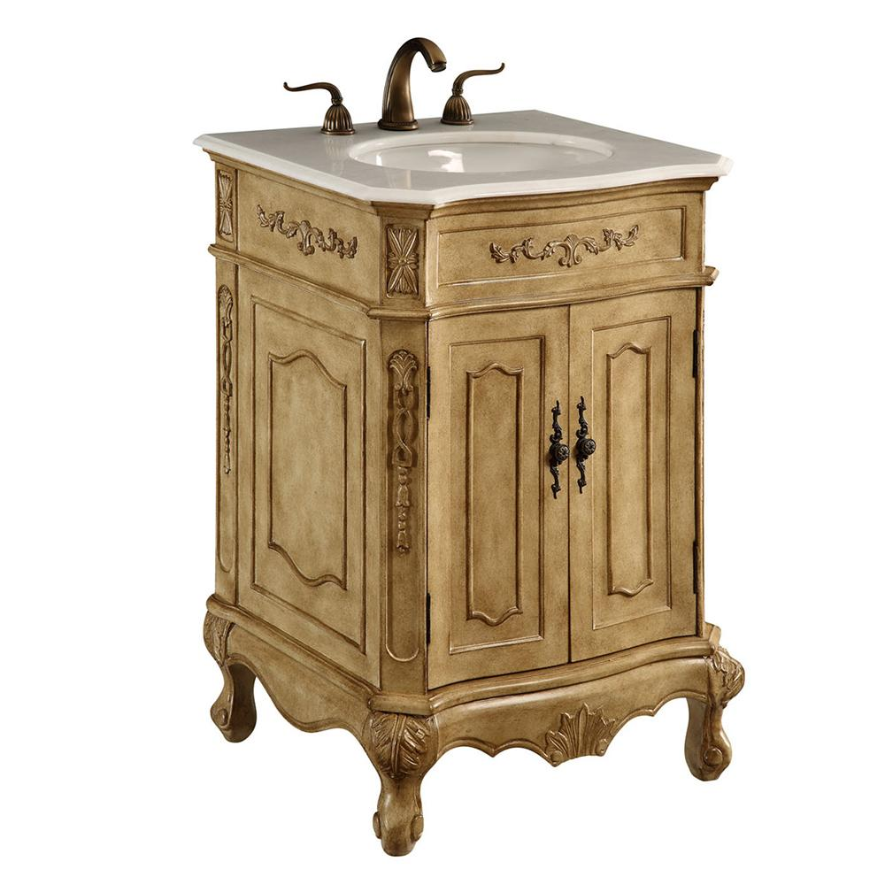 Danville 24 X 35 2 Door Vanity Cabinet - Antique Beige Finish (Vf-1001) Vanity