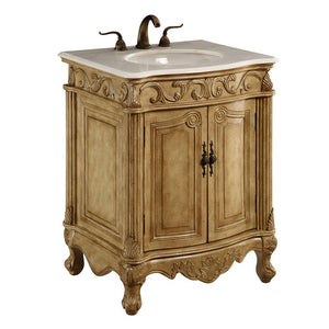 Danville 27 X 35 2 Door Vanity Cabinet - Antique Beige Finish (Vf-1002) Vanity
