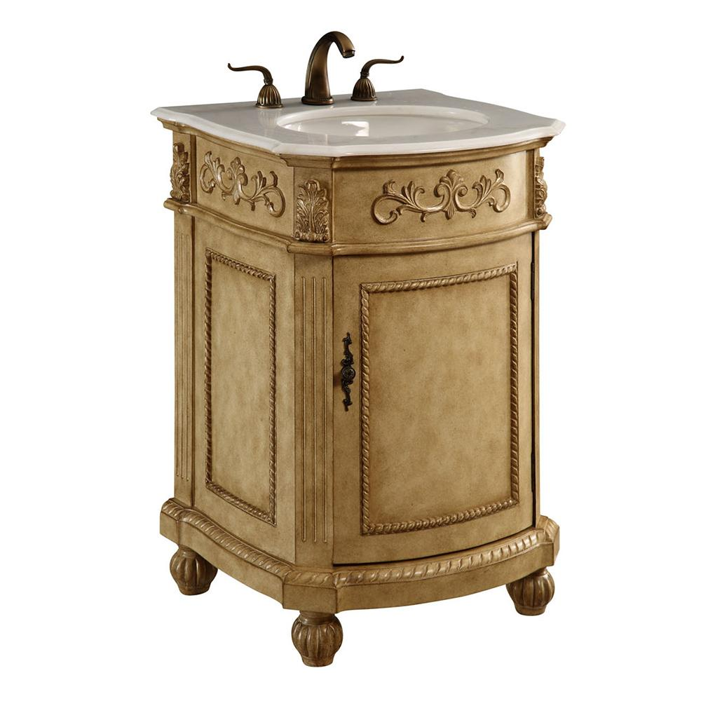 Danville 24 X 36 1 Door Vanity Cabinet - Antique Beige Finish (Vf-1003) Vanity