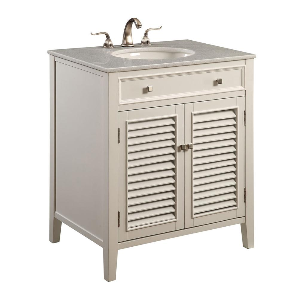 Cape Cod 30 X 35 2 Door Vanity Cabinet - White Finish (Vf-1004) Vanity