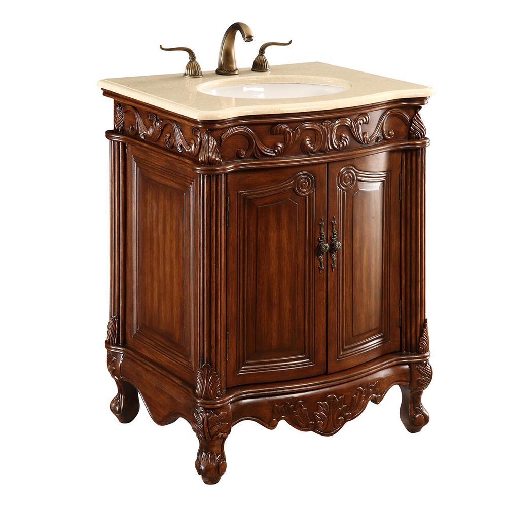 Danville 27 X 35 2 Door Vanity Cabinet - Brown Finish (Vf-1007) Vanity