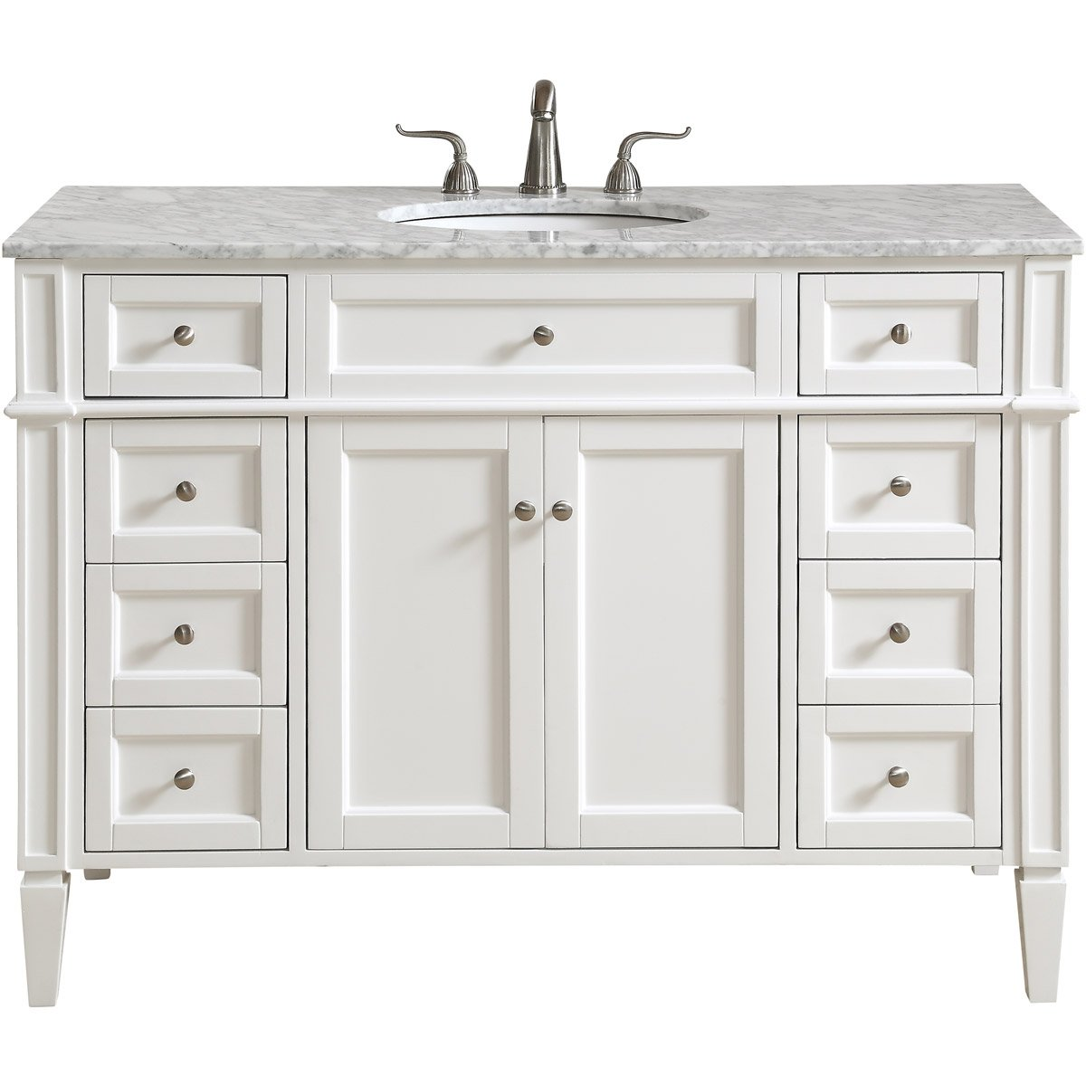 Park Avenue 48 X 35 8 Drawer 2 Door Vanity Cabinet - White Finish (Vf12548Wh) Vanity