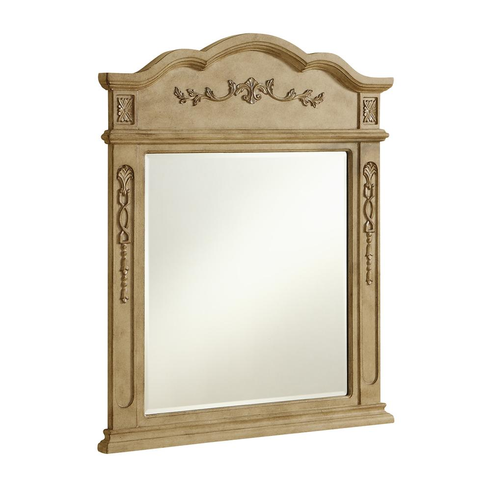 Danville 32 X 38 Traditional Mirror - Antique Beige Finish (Vm3001Ab) Mirror
