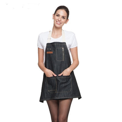 DENIM COWBOY CHEF APRON UNIFORM
