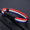 2018 National Flag Leather Chef Bracelet