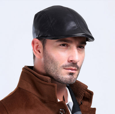 CHEF'S OUTDOOR LEATHER CAP AUTUMN - WINTER CHEF UNIFORM -SG301