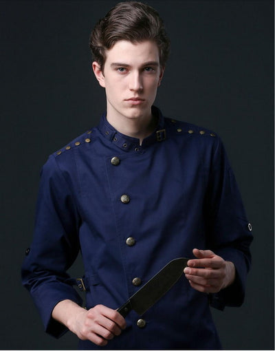 HIGH QUALITY DENIM HEAD LUXURY CHEF UNIFORM