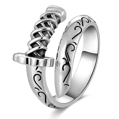 925 Sterling Silver Punk Rings Chef Jewellry