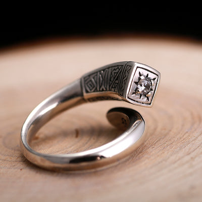 Z925 STERLING SILVER Christian Ring Jewelry FOR CHEF