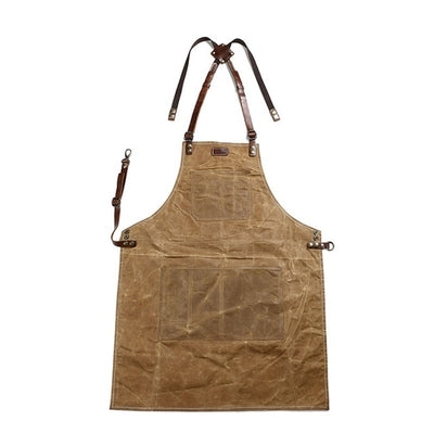 Genuine Cowhide Leather Apron  for Women cook uniform - 888121