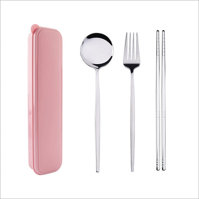 Tableware chopsticks Fork Spoon Dinnerware Set with Box - KITCHEN TOOL