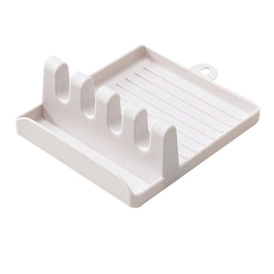 Kitchen Spoon Holders Fork knife Spatula Rack Shelf Organizer Plastic - KITCHEN TOOL