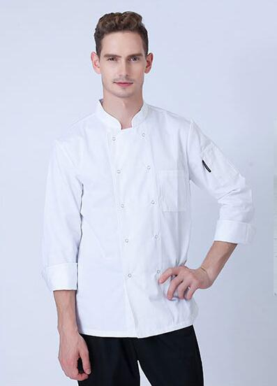 Man Woman Chef Jacket Long sleeve Uniform
