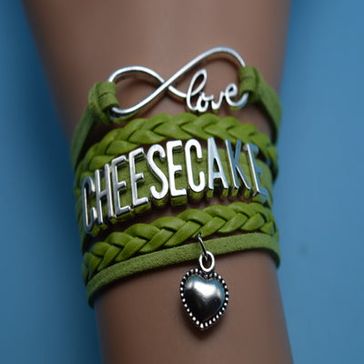 Chef Charm Bracelets Green Leather