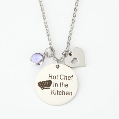 The Kitchen sexy Chef 25 mm pendants necklace