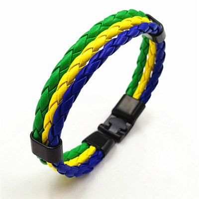 National Flag Leather Chef Bracelet - ars140