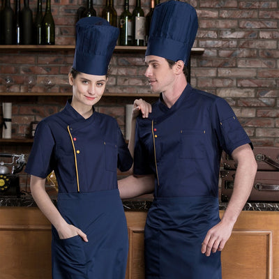 Summer Cotton Chef Coat Men and Women - Uniform - YL207KLW
