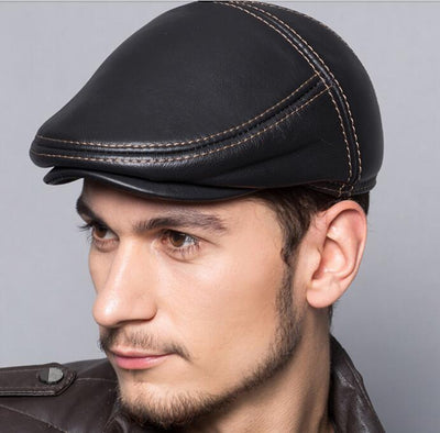 CHEF'S OUTDOOR LEATHER CAP AUTUMN - WINTER CHEF UNIFORM