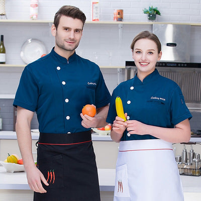 2019 Summer Short Sleeve Cotton Chef Uniform