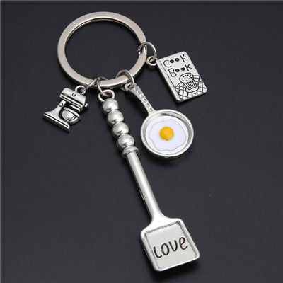 CHEF CHARM KEY RING  COOKING JEWELRY