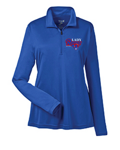 Lady Rams 1/4 Zip Pullover
