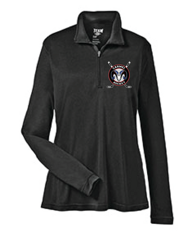 Ice Hockey Womens' 1/4 Zip Long Sleeve Shirt
