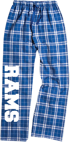 Rams Pajama Cotton Flannel Pants