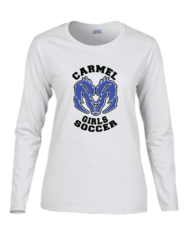 Girls Soccer Long Sleeve Cotton Tee