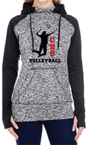 Girls Volleyball Colorblock Hoodie