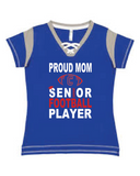 Rams Football Mom Lace up tee