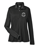 Girls Volleyball Womens Long Sleeve 1/4 Zip Classic Logo