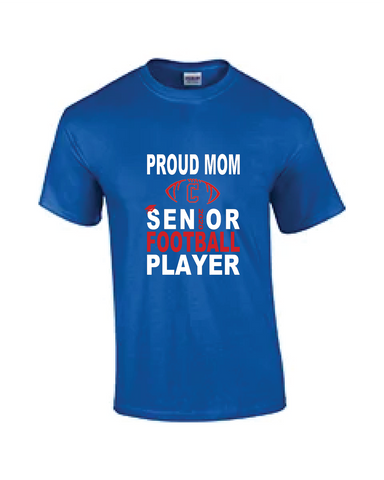 Rams Football Senior Mom Tees