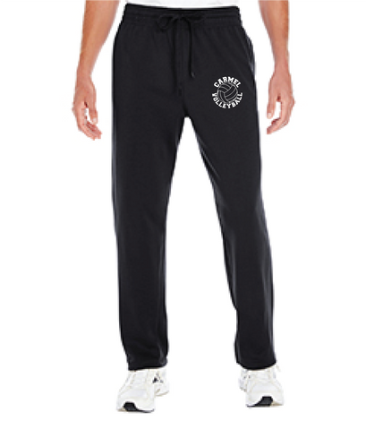 Girls Volleyball Open Bottom Sweatpants