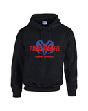 Rams Football Rise Above Hoodie