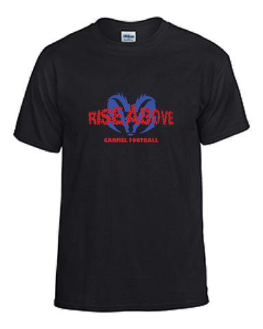Rams Football Rise Above Tee