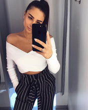 Crop Top Bandage White