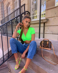 Crop Top Neon Green