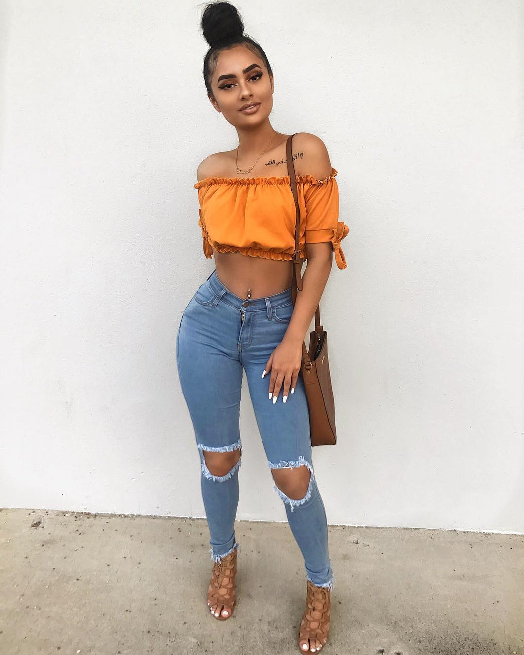 Crop Top Orange