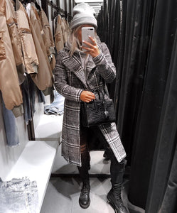 Manteau en Tweed Grey