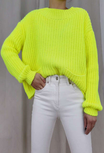 Pull en Maille Fluo Yellow