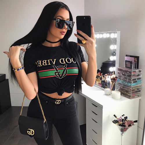 T-shirt Good Vibes Black