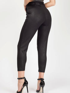Pantalon Imprimé Croco Black