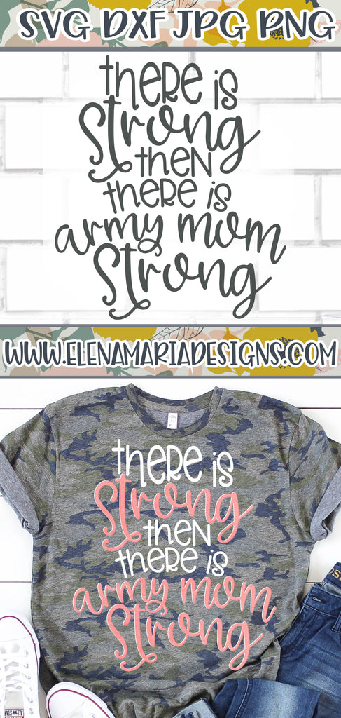 Army Mom Strong SVG File