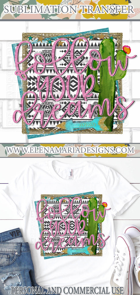 Dreams PNG Sublimation Transfer